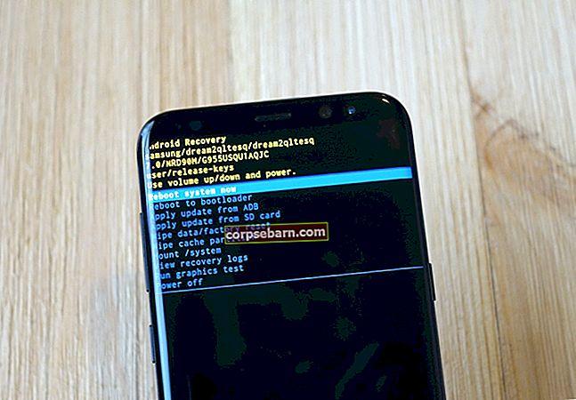 Kuidas puhastada Samsung Galaxy S8 vahemälu partitsioon