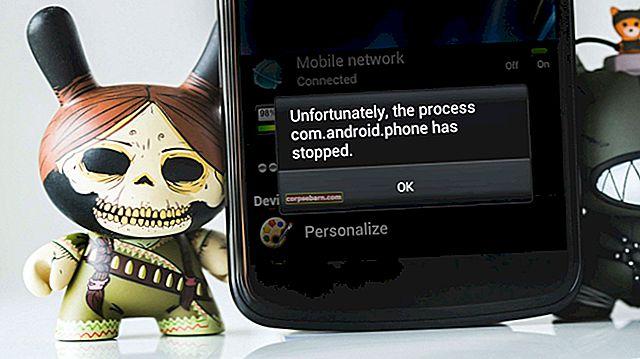 """Πώς να διορθώσετε """"Δυστυχώς η διαδικασία com.android.phone έχει σταματήσει"""""""