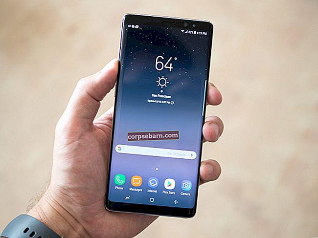 Ekrānuzņēmumu uzņemšana Galaxy Note 8