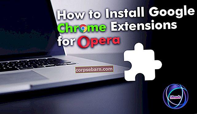 Kā pārlūkprogrammā Opera instalēt Google Chrome paplašinājumus