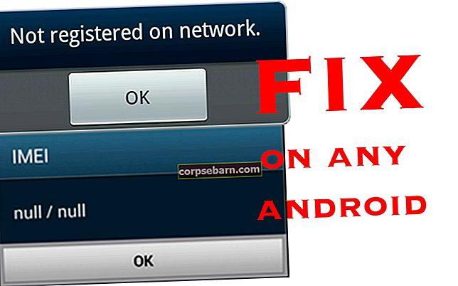 Khôi phục / sửa chữa Galaxy Null IMEI # và khắc phục lỗi không được đăng ký trên mạng